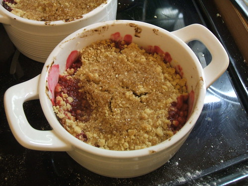 Cherry plum crumble