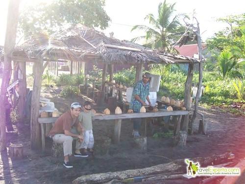 Rum and Coconut Break at Tortuguero Beach