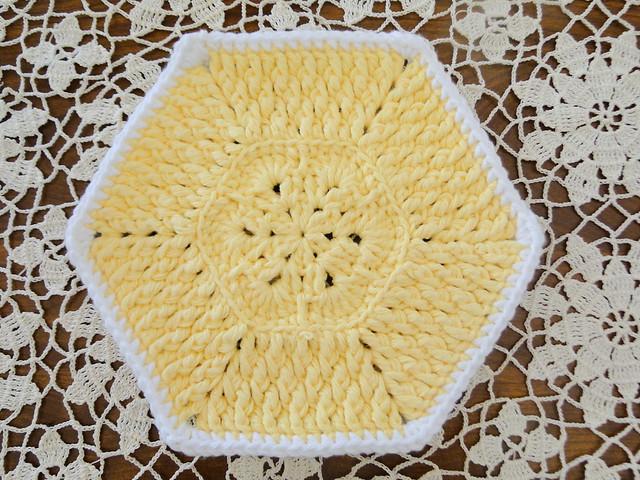 yellow dishcloth