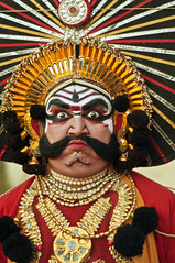 Yakshagana (Anoop Negi) Tags: vacation portrait india holiday art festival photography for photo dance costume media holidays image photos delhi indian bangalore creative culture images best exotic indie po mumbai karnataka drama hinduism emotions epic anoop indien inde negi portrayal  mahabharata  yakshagana ndia photosof  bhima pagentry   intia  n bestphotographer   imagesof anoopnegi     jjournalism  ndia n indi