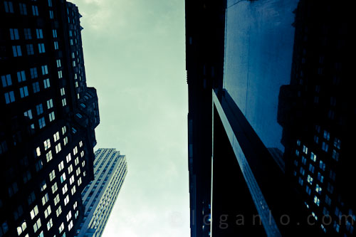 View of Madison Avenue sky, NYC
