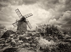 Mill on Askern (McSnowHammer) Tags: mill clouds silver ir rocks software infrared pro nik efex
