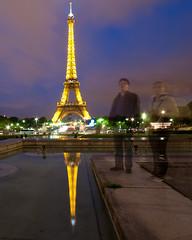Eiffel Tower Reflection (ajagendorf25) Tags: world paris france reflection tower water pool statue wonder mirror nikon long exposure sigma eiffel 7eme ghosts trocadero 1020 d90 ajagendorf25 alexjagendorf