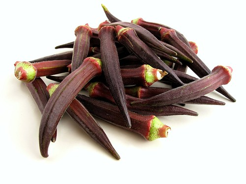 purple okra