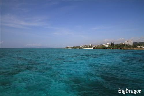 沖縄 空と海のコラボ