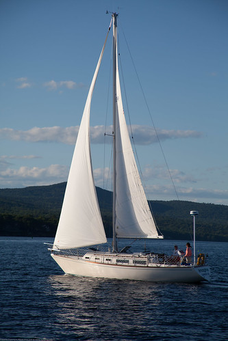 ocean white sailboat maine coastline twosails