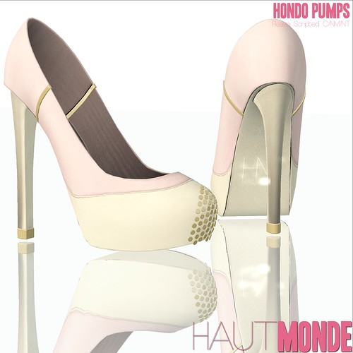 Hondo Pumps - Pink and Cream