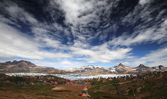 Tasiilaq City View (diamir8000) Tags: travel panorama canon geotagged village greenland grnland eastgreenland tasiilaq canoneos7d