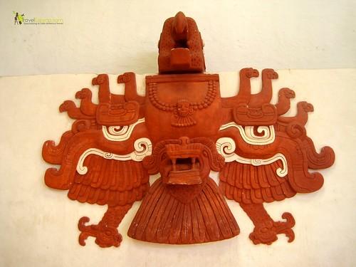 Mayan Ruins Copan Honduras Replica Of Bird Imagery