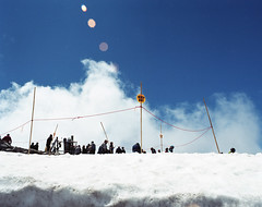 July snow (BckWht) Tags: washington pentax kodak 6x7 crystalmountain 160nc 55mm35