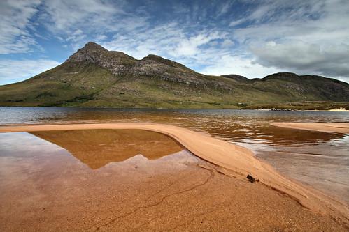 Cul Beag reflected in Loch Lurgainn