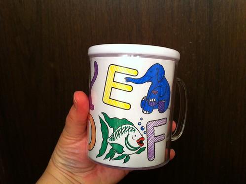 Alphabet Design-a-mug