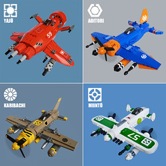 Sky Fighters (Fredoichi) Tags: plane lego space military micro shooter shootemup skyfi shmup microscale dieselpunk skyfighter fredoichi