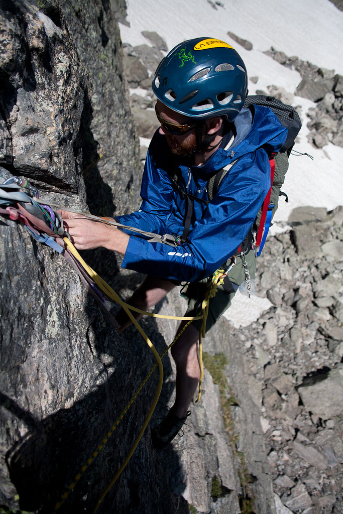 backing up the rappel anchor
