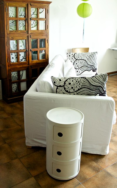 black and white living and kartell forniture
