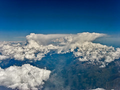 Thunderclouds from the air over the Alps 29 July 2011 (Julian Cooper) Tags: alps clouds aerial thunderstorm anvil cumulonimbus incus