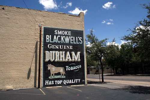 durham tobacco sign