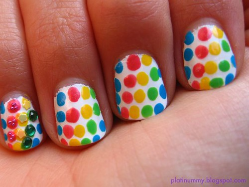 Rainbow dots and jewels