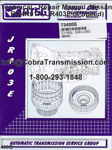Nissan RG4R01A JR403E Technical repair manual