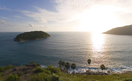 View from viewpoint near Naiharn beach looking west
