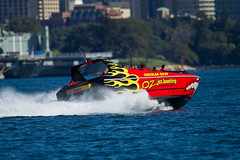 Oz Jetboating, Sydney Harbour (Craig Jewell Photography) Tags: red water iso100 boat harbour speedboat sydney australia powerboat sydneyharbour f40 bradleyshead ozjet 11250sec ozjetboating ef500mmf4lisusm canoneos1dmarkiv cpjsm craigjewellphotography
