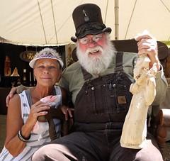 Johnna And Knobbit Man (Country Squire) Tags: festival lumix panasonic pa g1 bobevans johnna kutztown 2011 dmcg1 knobbit knobbitman