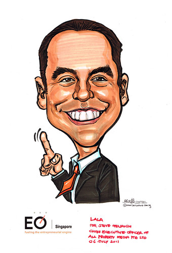 Mr Steve Melhuish caricature for EO Singapore