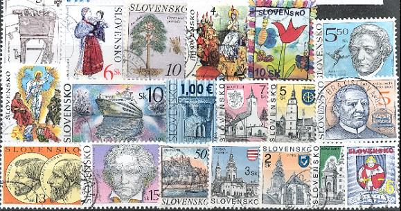Známky - 25 rôznych, Slovensko