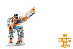 MECHA: exosuit (The Slushey One) Tags: orange grey one lego mecha 2011 hardsuit exosuit slushey