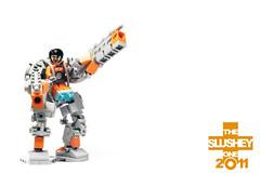 MECHA: exosuit (The Slushey One) Tags: orange grey one lego mecha 2011 hardsuit exosuit slushey