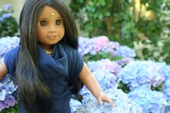 Nali and the Flowers (basilmentos) Tags: sonali doll photos americangirl nali basilmentos