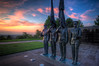 Air Force Memorial II (It's my whole damn raison d'etre) Tags: usa night arlington sunrise dawn virginia nikon memorial force cloudy air statues va hdr d300s thechallengefactory yahoo:yourpictures=sculptures