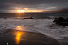 Baker Beach Sunset (andreaskoeberl) Tags: ocean sanfrancisco california longexposure sunset sun seascape water night clouds nikon waves cloudy bakerbeach 1685 d7000 nikon1685 nikond7000 andreaskoeberl