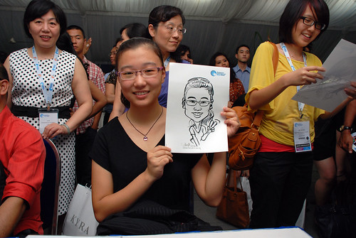 caricature live sketching for Singapore International Water Week Closing Dinner - 14