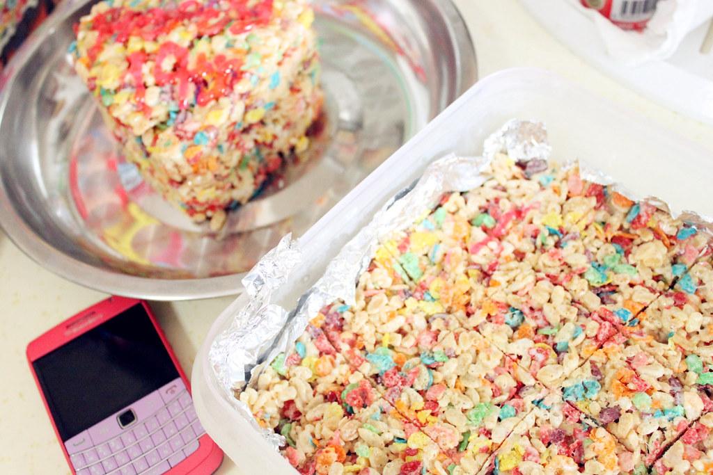 Marshmallow crispy treats!