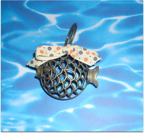 porta chaves peixinho bronzeado by Fuxiquices-da-isa