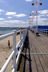 The board walk to Havre de Pas swimming pool