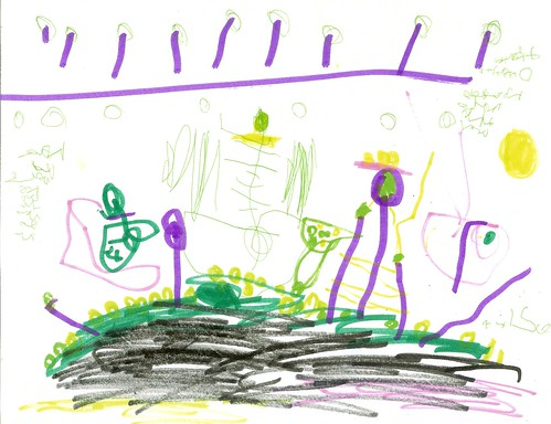 """""""A Game With Gold"""" Asher's Art, 4.5 Years Old"""