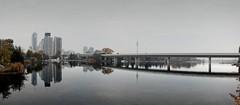 Reflection (Julio López Saguar) Tags: vienna wien city urban reflection rio river austria mirror ciudad panoramic espejo reflejo urbano viena osterreich alto donau panorámica danubio juliolópezsaguar