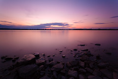 Rocky Twilight (philessing) Tags: longexposure canada canon twilight warm quebec 5d canonef1740mmf4lusm silky lightroom fleuvesaintlaurent saintlawrenceriver canoneos5d nd110 parcnatureduboisdellebizard iiebizard