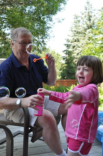 bubbles with grandpa