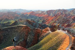 Morning  on Danxia Landform  (Melinda ^..^) Tags: china nature fisheye mel melinda gansu  landform danxia zhangye   chanmelmel