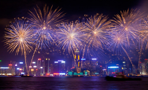Fireworks in Hong Kong