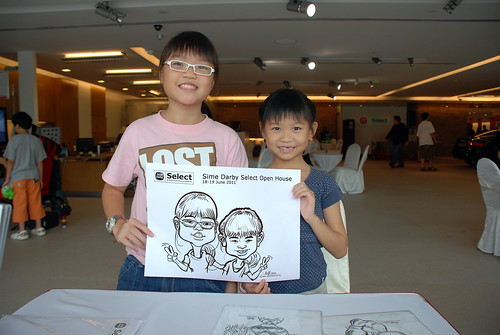Caricature live sketching for Sime Darby Select Open House Day 1 - 6