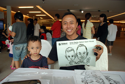 Caricature live sketching for Sime Darby Select Open House Day 2 - 23