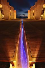 X E N O N (Lee Sie) Tags: blue light sky night clouds stream purple sandiego streak wideangle lajolla institute symetry salk