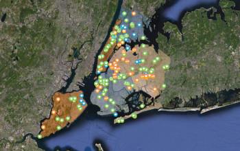 Солнечная карта Нью-Йорка