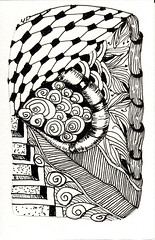 06-25-2011c (Blind Squirrel Photo Safari) Tags: art tile drawing hobby doodle tangle zentangle