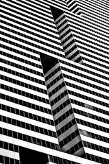 zebrawall (jfre81) Tags: urban abstract lines geometry houston texas tx downtown stripes zebra wall triangle black white bw quadrilateral