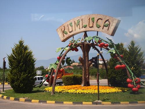 KUMLUCA城鎮的蕃茄雕塑